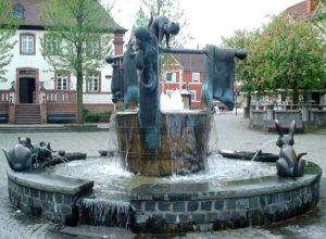 Fountain Marktbrunnen at Ramstein Market Square