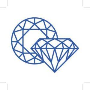 Logo of Diamond Cutter Hiking Trail showing diamonds