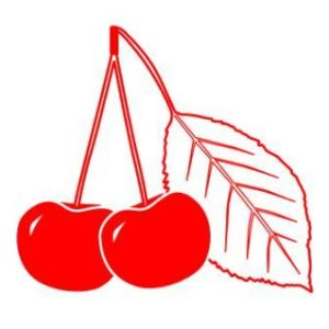 Logo of Cherry County Hiking Trail showing cherries