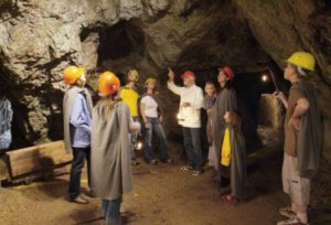Guided tour of the visitor mine in Imsbach