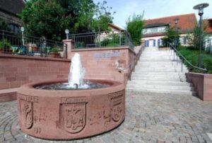 Fountain in front of Jewish Museum Winnweiler